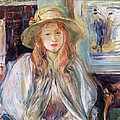 Julie Manet with a straw hat Print by Berthe Morisot