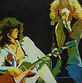 Just the Best. Robert Plant and Jimmy Page  Poster by Tanya Filichkin