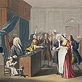 Justice Triumphs, Illustration Poster by William Hogarth