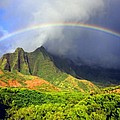 Kalalau Valley Rainbow Poster by Kevin Smith