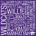 Kansas State College Colors Subway Art Poster by Replay Photos