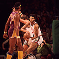 Kareem Abdul Jabbar Gets Rebound Poster by Retro Images Archive