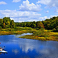 Kayaking the Moose River - Old Forge New York Print by David Patterson