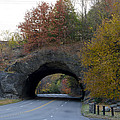 Kelly Drive Rock Tunnel in Autumn Poster by Bill Cannon