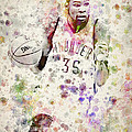 Kevin Durant in color Poster by Aged Pixel