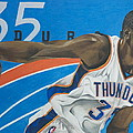 Kevin Durant Poster by Ryan Doray