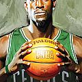 Kevin Garnett Artwork 2 Print by Sheraz A