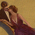 Kissing on the Chaise-Longue Valentine Poster by Sarah Vernon