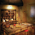 Kitchen - Granny's Stove Print by Mike Savad