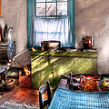 Kitchen - Old fashioned kitchen Poster by Mike Savad