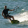 Kite Surfer 05 Print by Rick Piper Photography