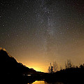 Knik River Milky Way D0370 Print by Wes and Dotty Weber