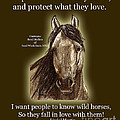 Know Wild Horses Poster-Huricane Print by Linda L Martin