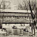 Knox Valley Forge Covered Bridge Print by Bill Cannon