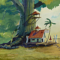 Ko' olau Surf Shack Print by Bill Shelton