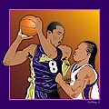 Kobe and Latrell Poster by Walter Oliver Neal