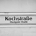 Kochstrasse checkpoint charlie Berlin U-bahn underground railway station name Germany Poster by Joe Fox