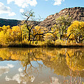 Kolob Pond in Fall Zion National Park Utah Print by Robert Ford
