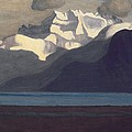 Lac Leman and Les Dents-du-Midi Poster by Felix Edouard Vallotton