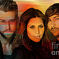 Lady Antebellum Print by Marvin Blaine
