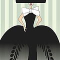 Lady in black ball gown I Poster by Mira Dimitrijevic