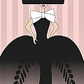 Lady in black ball gown  Poster by Mira Dimitrijevic