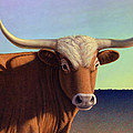 Lady Longhorn Print by James W Johnson