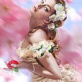 Lady Of The Camellias Print by Drazenka Kimpel