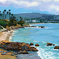 Laguna Beach Winter Print by Alice Leggett