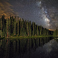Lake Irene's Milky Way Mirror Poster by Mike Berenson
