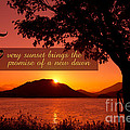 Lake Sunset with Promise of a New Dawn Print by Beverly Claire Kaiya