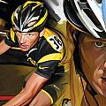 Lance Armstrong Artwork Poster by Sheraz A