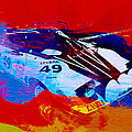 Lancia Stratos Watercolor 2 Poster by Naxart Studio