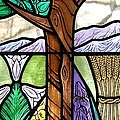 Landscape with flora Poster by Gilroy Stained Glass