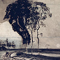 Landscape with Three Trees Poster by Victor Hugo