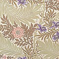 Larkspur Design Print by William Morris