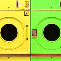 Laundromat Drying Machines Two 20130801a Poster by Wingsdomain Art and Photography