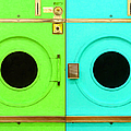 Laundromat Drying Machines Two 20130801b Poster by Wingsdomain Art and Photography