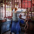 Laundry - Miss Lady Blue  Print by Mike Savad