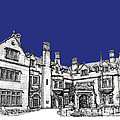 Laurel Hall in royal blue Poster by Lee-Ann Adendorff