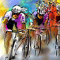 Le Tour de France 03 Print by Miki De Goodaboom