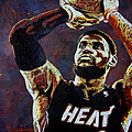 LeBron James MVP Print by Maria Arango