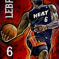 Lebron James Oil Painting-Original Print by Dan Troyer
