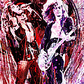 Led Zeppelin - Jimmy Page and Robert Plant Poster by Ryan RockChromatic
