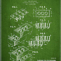 Lego Toy Building Brick Patent - Green Print by Aged Pixel