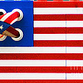 Legos American Flag Poster by Anahi DeCanio