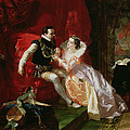 Leicester And Amy Robsart At Cumnor Print by Edward Matthew Ward