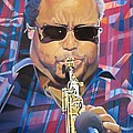 Leroi Moore and 2007 Lights Poster by Joshua Morton