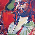 Leroi Moore Colorful Full Band Series Poster by Joshua Morton