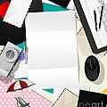 Letter collage abstract Poster by Richard Laschon